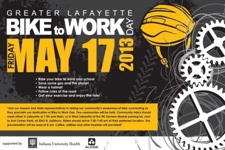Greater Lafayette Celebrates Bike to Work...